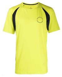 Camiseta con cuello circular estampada amarilla de Calvin Klein