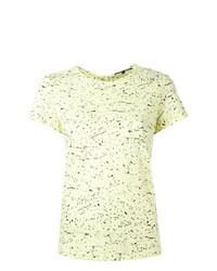 Camiseta con cuello circular estampada amarilla de Proenza Schouler