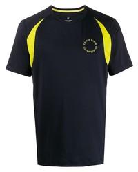 Camiseta con cuello circular estampada azul marino de Calvin Klein