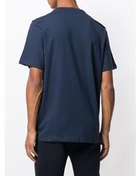 Camiseta con cuello circular estampada azul marino de Michael Kors