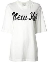 Camiseta con cuello circular estampada blanca de 3.1 Phillip Lim