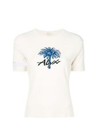 Camiseta con cuello circular estampada blanca de Alyx