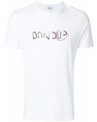 Camiseta con cuello circular estampada blanca de Dondup
