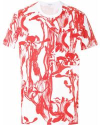 Camiseta con cuello circular estampada blanca de Givenchy
