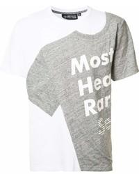 Camiseta con cuello circular estampada blanca de Mostly Heard Rarely Seen