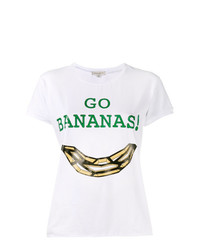 Camiseta con cuello circular estampada blanca de Natasha Zinko