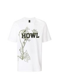 Camiseta con cuello circular estampada blanca de Oamc
