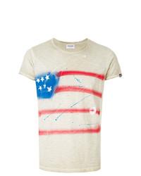 Camiseta con cuello circular estampada en beige de Converse