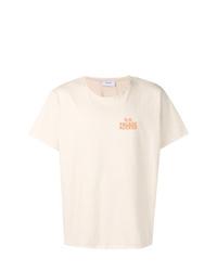 Camiseta con cuello circular estampada en beige de Rhude