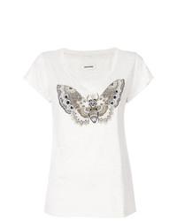 Camiseta con cuello circular estampada en beige de Zadig & Voltaire