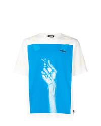 Camiseta con cuello circular estampada en blanco y azul de U.P.W.W.
