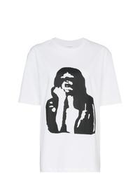 Camiseta con cuello circular estampada en blanco y negro de Calvin Klein Jeans Est. 1978