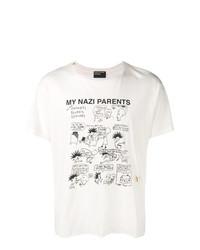 Camiseta con cuello circular estampada en blanco y negro de Enfants Riches Deprimes