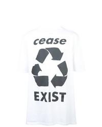 Camiseta con cuello circular estampada en blanco y negro de Faith Connexion