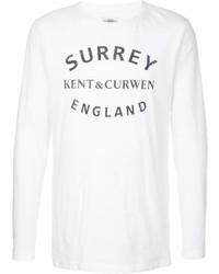 Camiseta con cuello circular estampada en blanco y negro de Kent & Curwen
