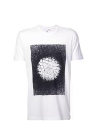 Camiseta con cuello circular estampada en blanco y negro de Odin