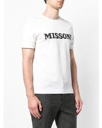 Camiseta con cuello circular estampada en blanco y negro de Missoni
