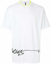 Camiseta con cuello circular estampada en blanco y negro de Versus