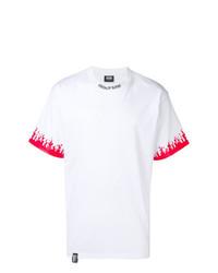 Camiseta con cuello circular estampada en blanco y rojo de Vision Of Super