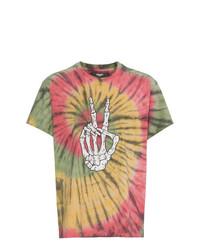 Camiseta con cuello circular estampada en multicolor de Amiri