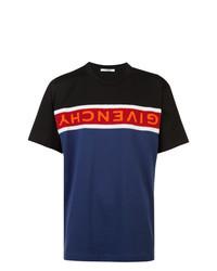 Camiseta con cuello circular estampada en multicolor de Givenchy