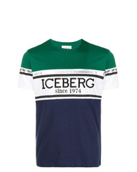 Camiseta con cuello circular estampada en multicolor de Iceberg
