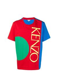 Camiseta con cuello circular estampada en multicolor de Kenzo