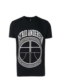Camiseta con cuello circular estampada en negro y blanco de Astrid Andersen