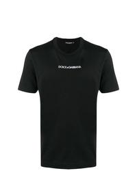 Camiseta con cuello circular estampada en negro y blanco de Dolce & Gabbana