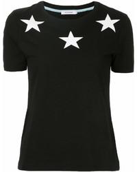 Camiseta con cuello circular estampada en negro y blanco de GUILD PRIME