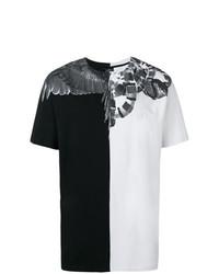 Camiseta con cuello circular estampada en negro y blanco de Marcelo Burlon County of Milan