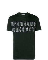 Camiseta con cuello circular estampada en negro y blanco de McQ Alexander McQueen