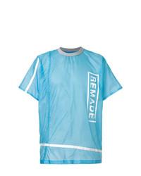 Camiseta con cuello circular estampada en turquesa de CHRISTOPHER RAEBURN