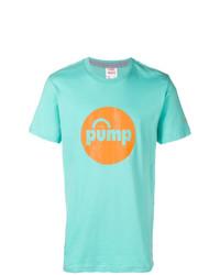 Camiseta con cuello circular estampada en turquesa de Reebok