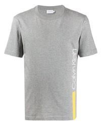Camiseta con cuello circular estampada gris de Calvin Klein