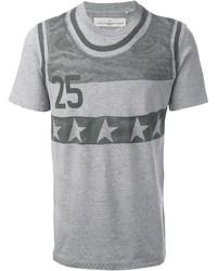 Camiseta con cuello circular estampada gris de Golden Goose Deluxe Brand