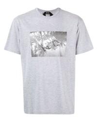 Camiseta con cuello circular estampada gris de N°21