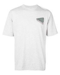 Camiseta con cuello circular estampada gris de Palace