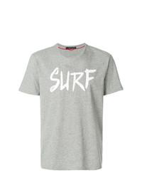 Camiseta con cuello circular estampada gris de Perfect Moment