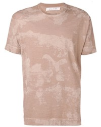 Camiseta con cuello circular estampada marrón claro de 1017 Alyx 9Sm