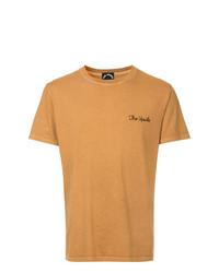 Camiseta con cuello circular estampada marrón claro de The Upside