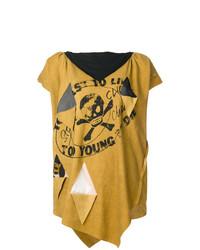 Camiseta con cuello circular estampada mostaza de Vivienne Westwood Anglomania
