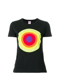 Camiseta con cuello circular estampada negra de Circled Be Different