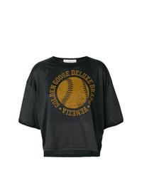 Camiseta con cuello circular estampada negra de Golden Goose Deluxe Brand