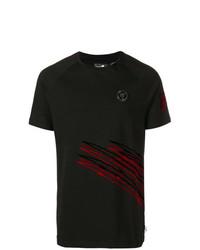 Camiseta con cuello circular estampada negra de Plein Sport