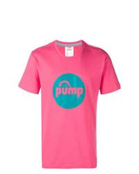 Camiseta con cuello circular estampada rosa de Reebok
