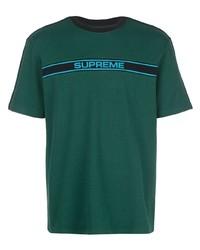 Camiseta con cuello circular estampada verde oscuro de Supreme