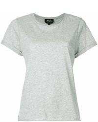 Camiseta con cuello circular gris de A.P.C.