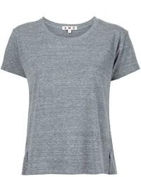 Camiseta con cuello circular gris de Amo