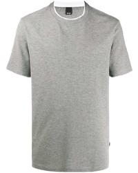 Camiseta con cuello circular gris de BOSS HUGO BOSS